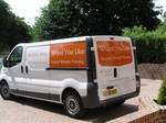 Wood You Like's stylish van. Signage by Medash Signs - Ashford