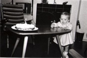Yeap, that is the real me, turning 1year old - oh so many years ago